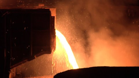 Smelting plant in the Ukraine. Mining and metal rolling.