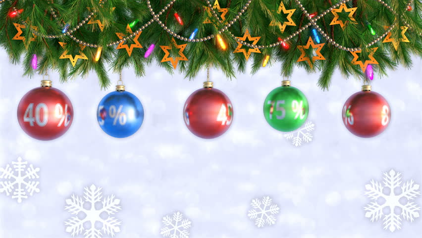 Christmas Decorations Hanging And Rotating From Twigs 3D Render  - Christmas Tree Discounts