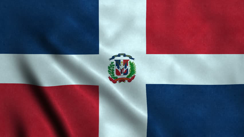 4K Seamless Loopable Flag of Dominican Republic