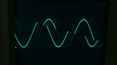Amplitude Diagram on the oscilloscope