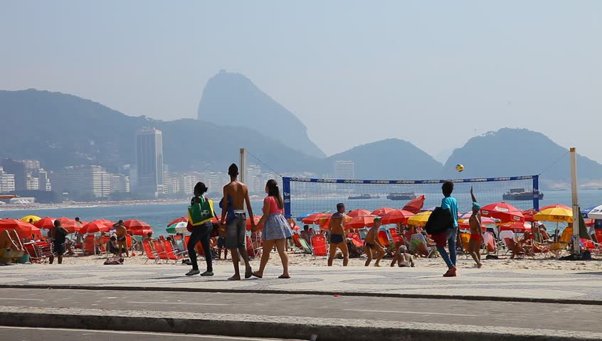 RIO DE JANEIRO, BRAZIL - DECEMBER 31: Summer in the city of Rio de Janeiro on New Year's eve on December 31, 2012.