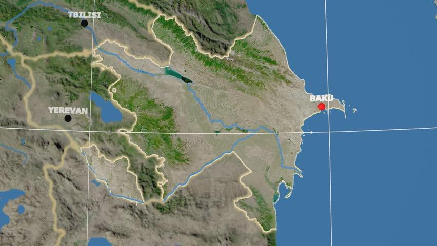 United States With Alaska Shape Animated On The Satellite Map Of - 4k us map