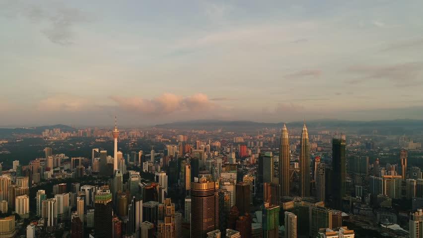 KUALA LUMPUR - CIRCA OCTOBER 2017: Aerial view. A city center,  symbol of growth for Malaysian. #32284867