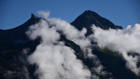 Switzerland Timelapse of Clouds Forming Near Grindlewald Interlaken Switzerland
