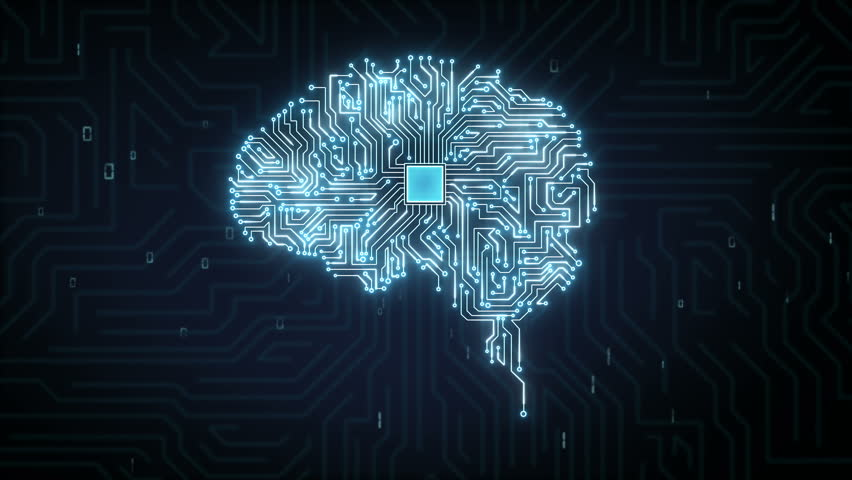 Brain CPU chip, 4K size movie, grow artificial intelligence