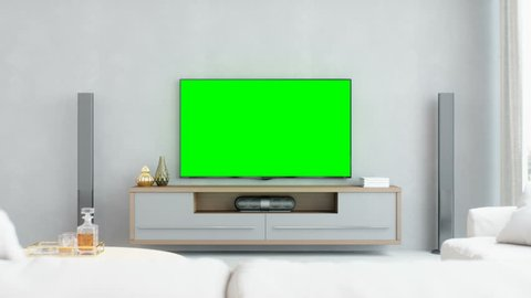 Modern Living Room With Home Entertainment System
