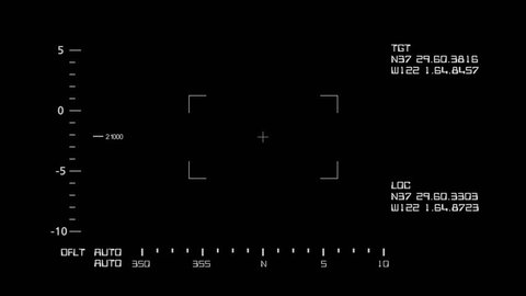 Basic Realistic Night Vision Screen Interface with Data