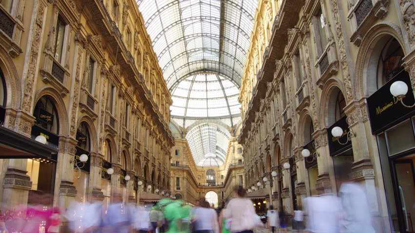 MILAN - june 30: Unidentified people pass by Galleria Vittorio Emanuele II