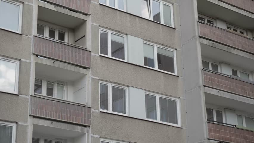 4k00:18Low Income Neighborhoods From Communism Era / Prefab Block Of Flats
