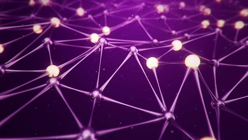 Animation slow moving of molecules or network from glass and crystal. Animation of seamless loop. | Shutterstock HD Video #32621575