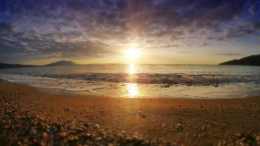 Sunrise wave sea slow motion | Shutterstock HD Video #32655961