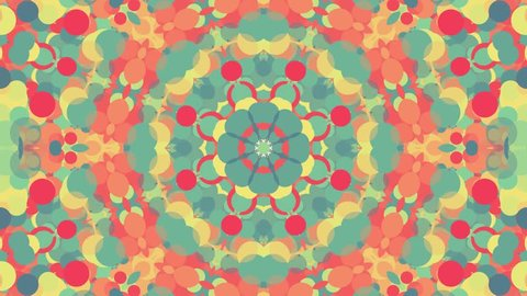 ornamental geometric kaleidoscope flower moving pattern - New quality retro vintage holiday shape colorful universal motion dynamic animated joyful music video footage