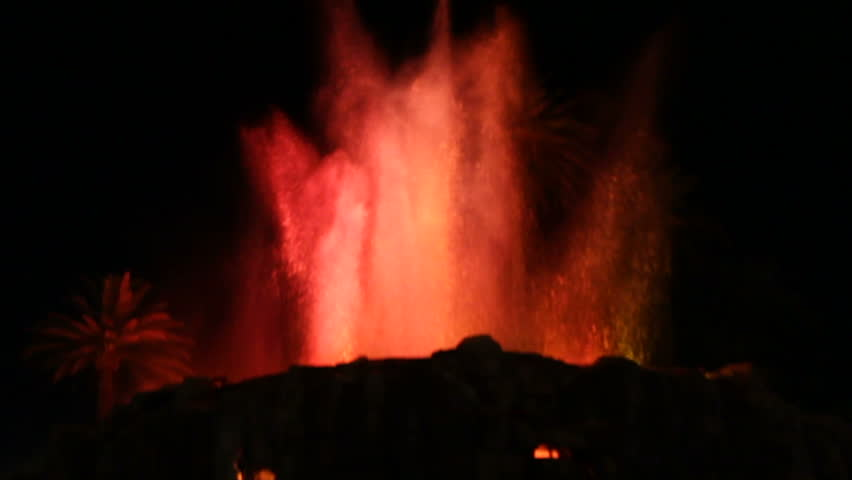 Las Vegas Volcano show | Shutterstock HD Video #32740738