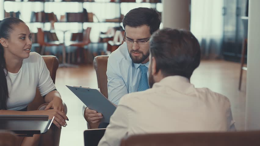 Businessmen are discussing in the office | Shutterstock HD Video #32743477