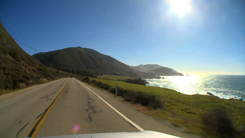 """Point-of-view"" driving the Cabrillo Highway"