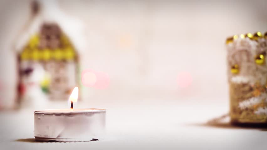 Burning Candle On the Background Stock Footage Video (100% Royalty-free)  32810047 | Shutterstock