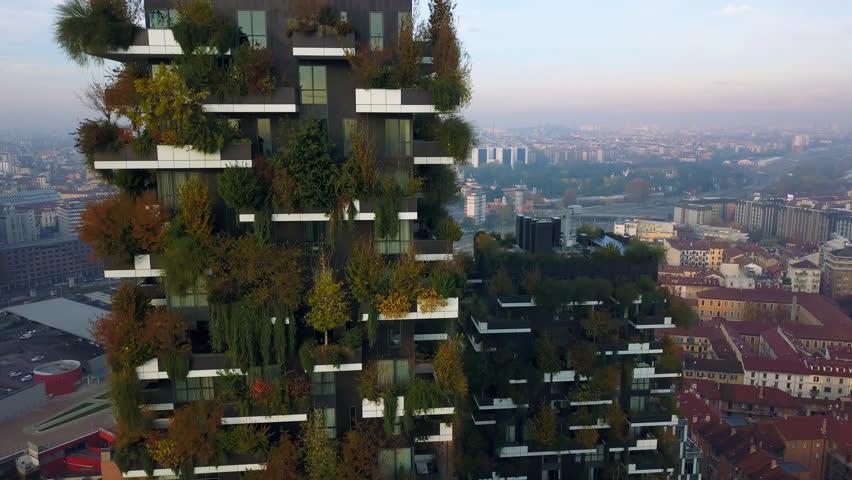 11.11.2017 Milano (Italy) - Milan bosco verticale