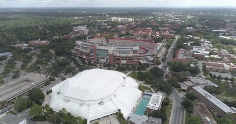 Gainesville Gators Ben hill griffin stadium Drone shot University of Florida ufl
