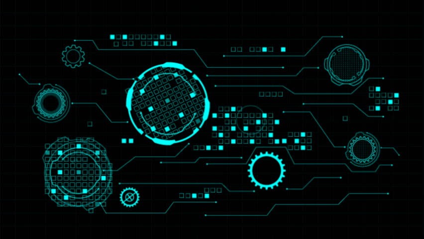 HUD Hi Scifi Technology Futuristic Elements Communication Interface Panel Concept | Shutterstock HD Video #32941177
