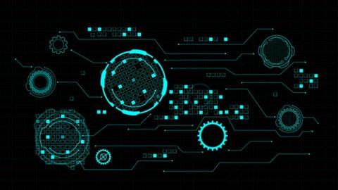 HUD Hi Scifi Technology Futuristic Elements Communication Interface Panel Concept
