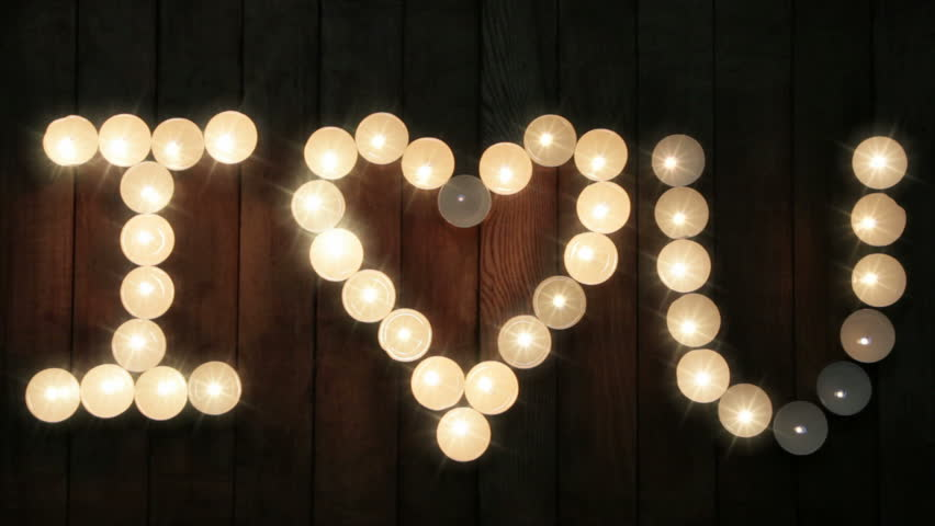 Nscription From Candles I Love Stock Footage Video 100 Royalty Free 32965237 Shutterstock
