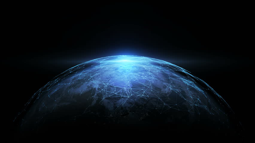 4K abstract networking, Digital World connecting, Elements of this image furnished by NASA. | Shutterstock HD Video #32967085
