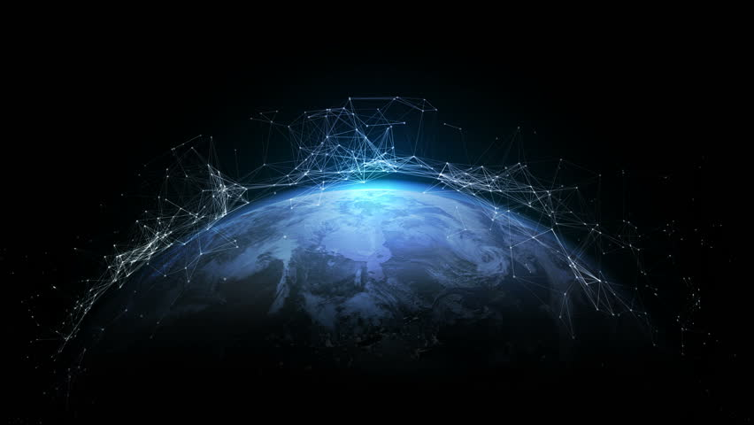 4K abstract networking, Digital World connecting, Elements of this image furnished by NASA. | Shutterstock HD Video #32967283