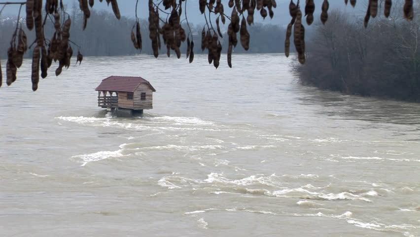 vídeo stock de natural disasters flooded houses 100 livre de