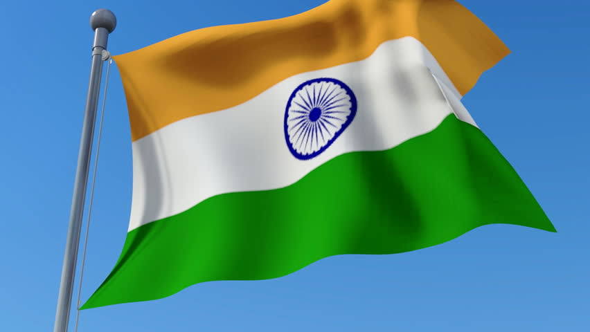 Indian Flag Animated: Flag Of India Waving In Stock Footage Video (100% Royalty