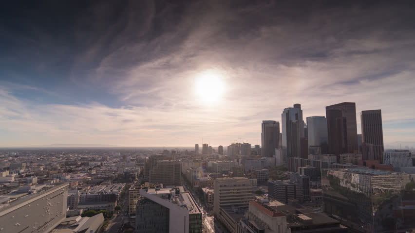 Downtown Los Angeles on a smoggy day Time Lapse 4k  DTLA | Shutterstock HD Video #33023020