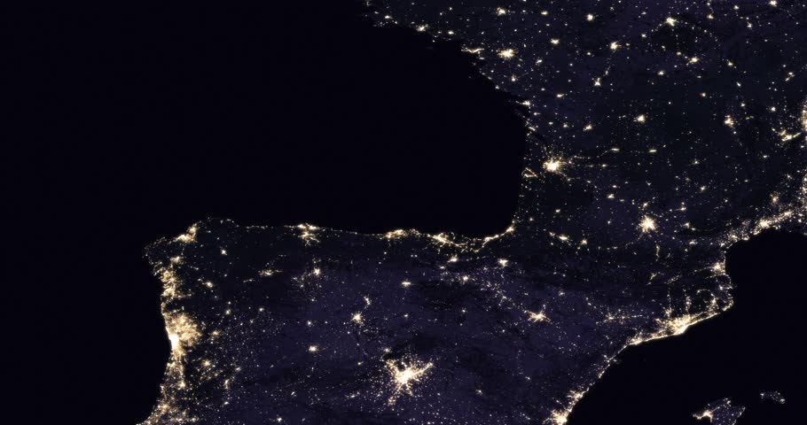 Usa Map At Night North Korean Craziness Knows No Ends As Satellite - Us map at night from space
