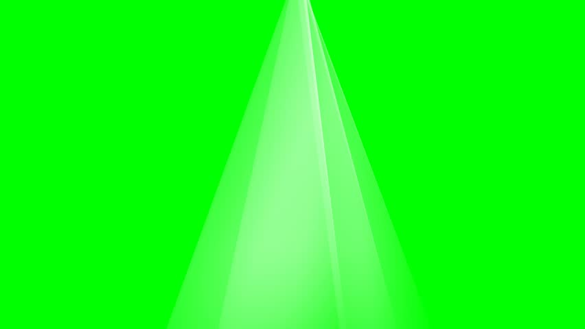 Rays of lights on green screen background animation. Beams light on stage footage 4K video.