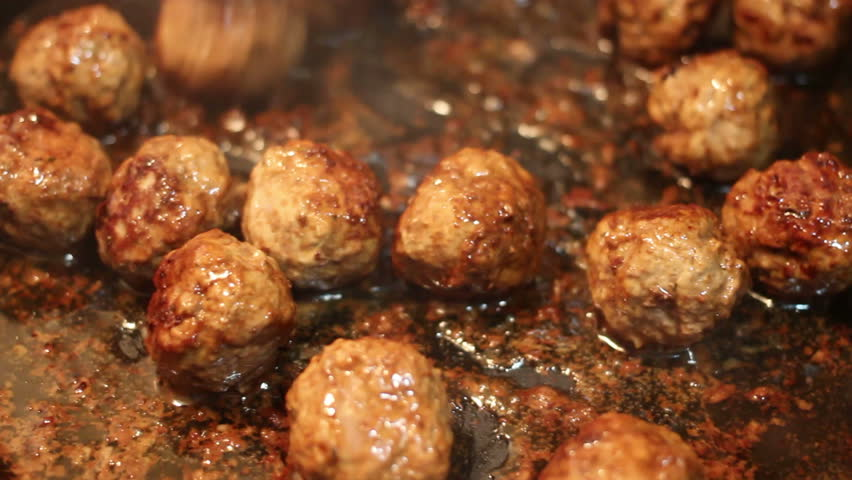 Home made buns baking in oven speed up shot stock footage video meatballs cooking hd stock video clip forumfinder Image collections
