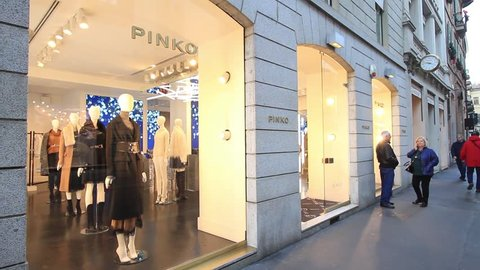 new products 0d91e 3cf23 Milan, november 2017: shop window of pinko in the fashion and design  capital of the world, on november 2017 in milan, italy