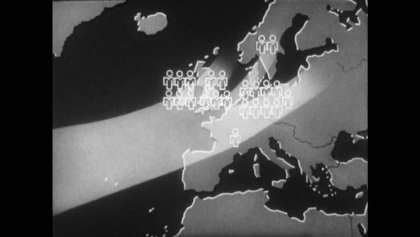 1940s Map Of Europe.1940s Map Of Europe With Stock Footage Video 100 Royalty Free