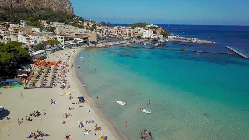 Drone Footage of  Mondello Beach Palermo