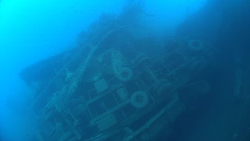 SCUBA divers exploring underwater wreck Zenobia   Shutterstock HD Video #33347971