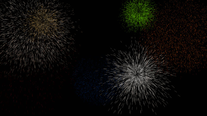 Holiday fireworks in sky. Seamless loop | Shutterstock HD Video #33455077