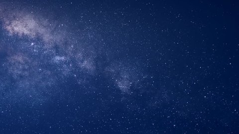 Universe galaxy milky way time lapse, nature blue, dark milky way, galaxy view, star lines, timelapse night sky stars milky way on mountains background., timelapse stars and moon in mountain night sky