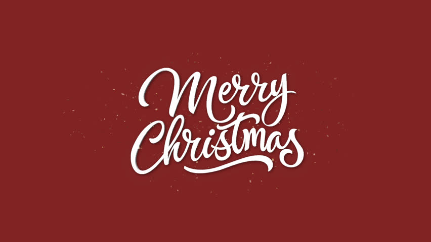 Merry Christmas Text + Alpha Channel