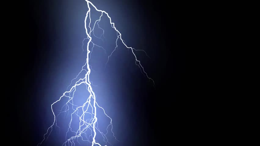 10 Realistic lightning strikes over black background. Thunderstorm with flashing lightning thunderbolt  | Shutterstock HD Video #33491497
