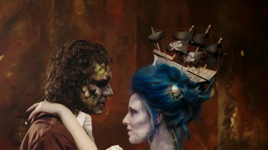 Undead pirate captain and his beloved | Shutterstock HD Video #33519817