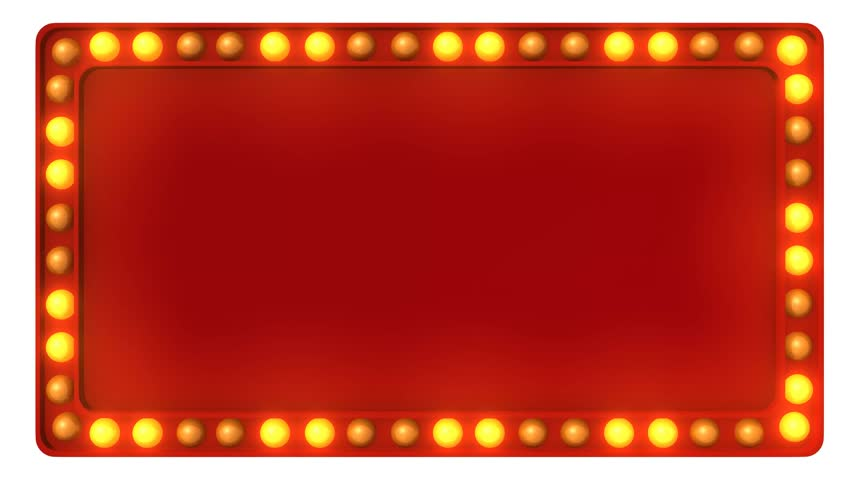 Red Marquee light board sign retro on white background. 3d rendering | Shutterstock HD Video #33548077