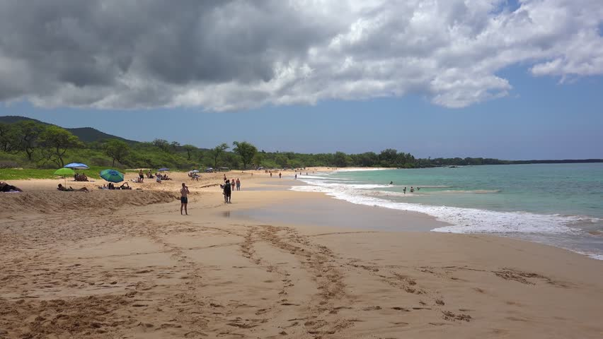 Makena Beach State Park Stock Footage Video 100 Royalty Free 33597277 Shutterstock