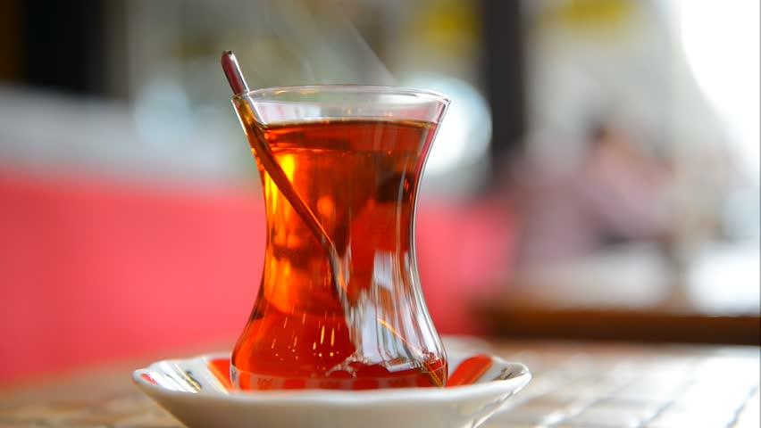 Turkish tea in a glass beaker | Shutterstock HD Video #3361907