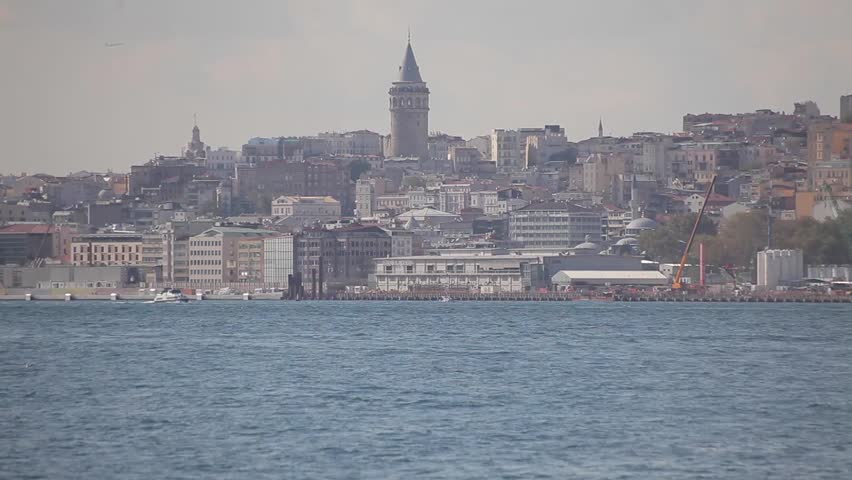 View of Galata Tower and Karakoy in Istanbul/Turkey