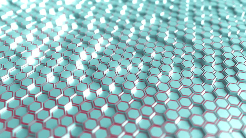 Futuristic blue and red hexagonal prisms motion background, seamless loop | Shutterstock HD Video #33651241