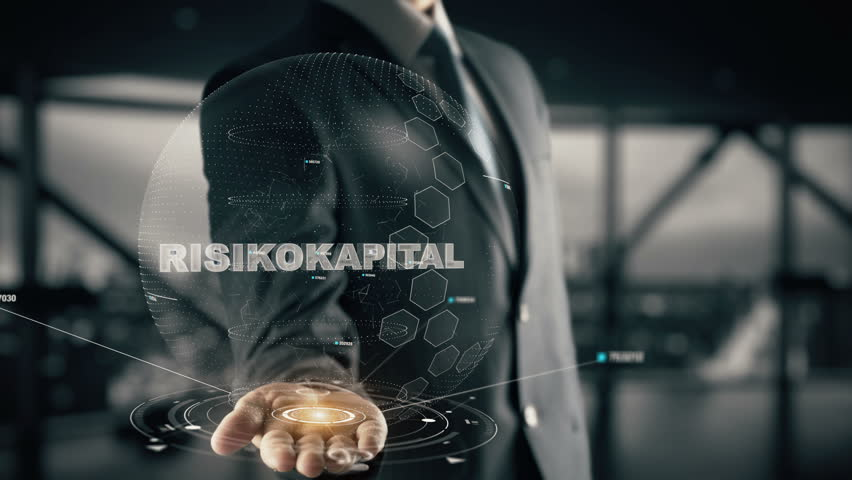 Risikokapital with hologram businessman concept, in English Venture capital | Shutterstock HD Video #33698617