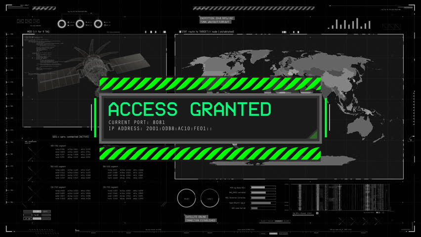 Access Granted System Message On Stock Footage Video (100%