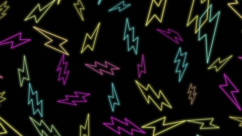 Motion retro zig zag abstract background. Elegant and luxury dynamic geometric 70s, 80s, 90s Memphis style template in 4k footage. Video format 3840x2160